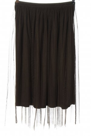 Bershka Tulle Skirt brown elegant