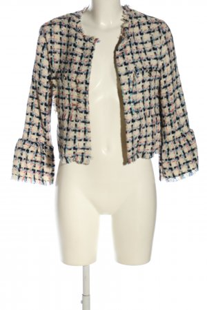 Bershka Blazer in tweed motivo a quadri elegante