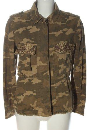 Bershka Übergangsjacke braun-creme Camouflagemuster Casual-Look