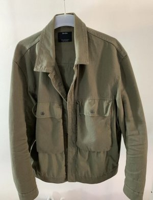 Bershka Übergangsjacke XL Khaki Jacke Trenchcoat olivgrün