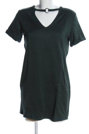 Bershka T-shirt col en V kaki style décontracté