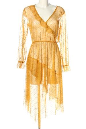 Bershka Robe bas asymétrique orange clair motif de tache élégant