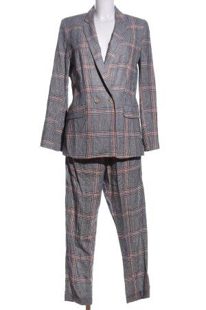 Bershka Woven Twin Set light grey-pink check pattern business style