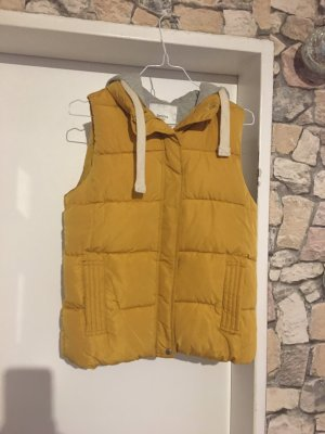 Bershka Hooded Vest yellow