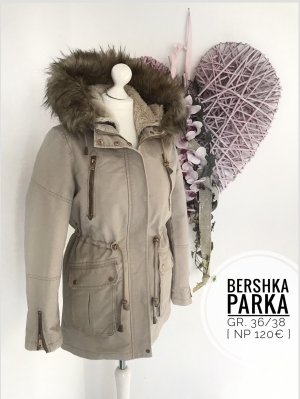Bershka Capuchon jas room-licht beige