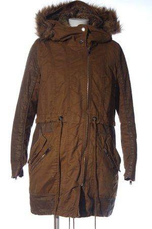 Bershka Kurtka zimowa brązowy W stylu casual