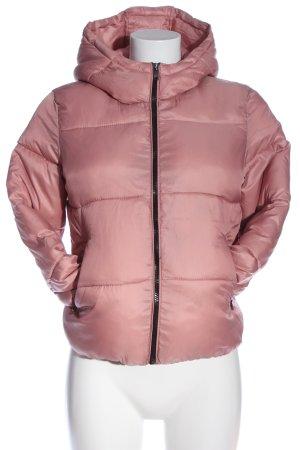 Bershka Winterjacke pink Steppmuster Casual-Look