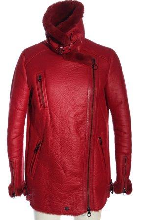 Bershka Kurtka zimowa czerwony W stylu casual
