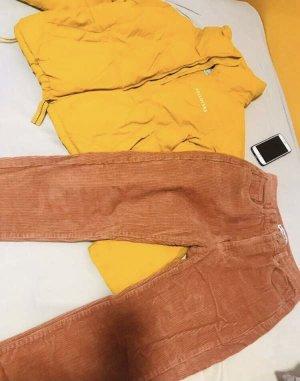 Pull & Bear Kurtka zimowa żółty