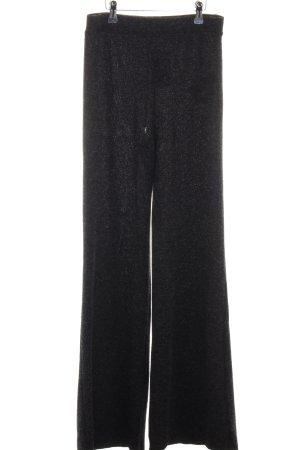 Bershka Pantalone di lana nero-grigio scuro puntinato stile casual