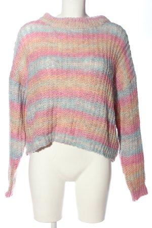 Bershka Warkoczowy sweter Wzór w paski W stylu casual