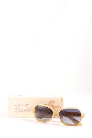 bertha Gafas de sol cuadradas amarillo pálido estilo «business»
