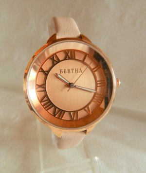 bertha Analog Watch rose-gold-coloured-light pink metal