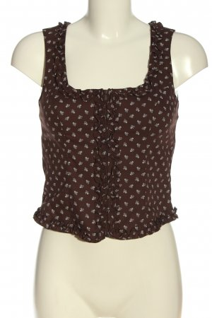 Berwin & Wolff Blouse Top brown-white allover print casual look