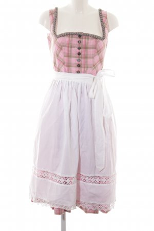 Berwin & Wolff Dirndl weiß-pink Karomuster klassischer Stil