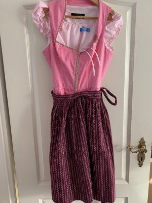 Berwin & Wolff A Line Dress purple-neon pink cotton