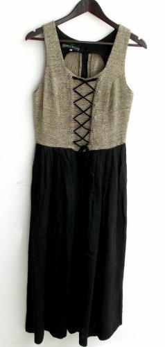 Berwin & Wolff Dirndl black-grey brown linen