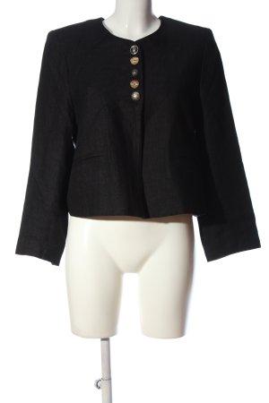 Berwin & Wolff Short Blazer black weave pattern casual look