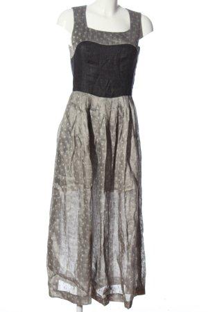 Berwin & Wolff Dirndl silver-colored-black abstract pattern elegant