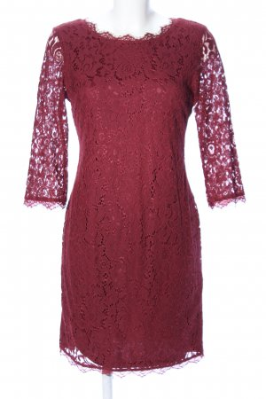 Lace Dress red business style