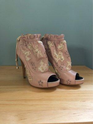 Peep Toe laarsjes stoffig roze