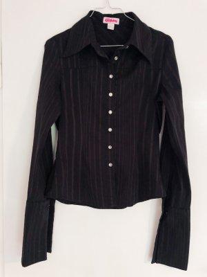 besondere Nadelstreifen- Goth Bluse mit langen Ärmeln