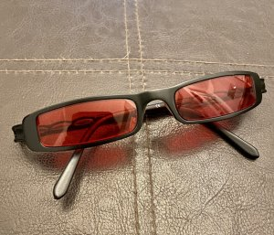 Retro Glasses dark red-black