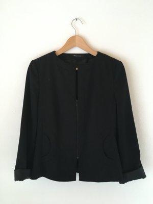 s. Oliver (QS designed) Blazer in jersey nero Tessuto misto