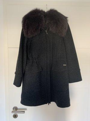 Woolrich Wollen jas donkergrijs