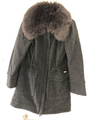 Woolrich Manteau en laine gris foncé