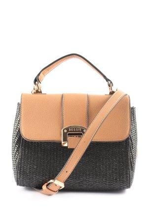 Bessie London Gekruiste tas zwart-nude zakelijke stijl