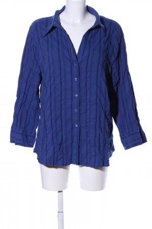 BEST BASICS Hemd-Bluse blau Streifenmuster Business-Look