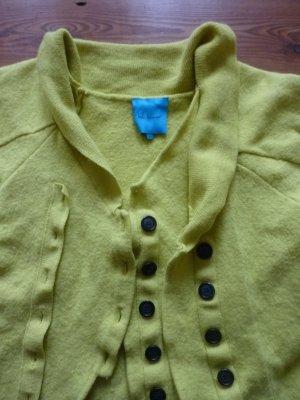 Best BEHAVIOR Cardigan/ Strickjacke, Gr. S/ 36, gelb, Fledermausschnitt