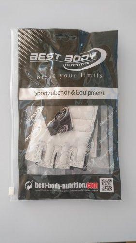 Handschoenen zonder vingers wit-zwart