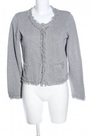 Best Connections Blouse Jacket light grey flecked casual look