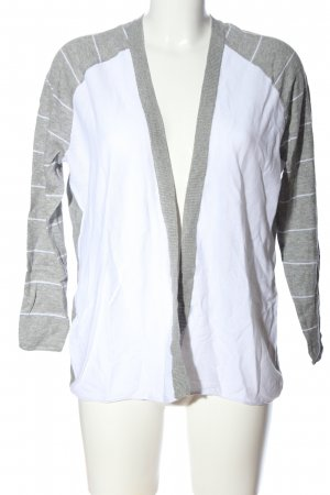 Best Connections Cardigan grigio chiaro-turchese motivo a righe stile casual