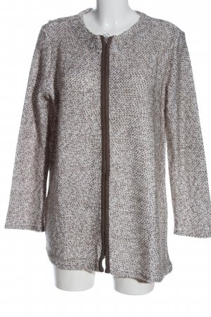 Best Connections Coarse Knitted Jacket natural white-brown allover print