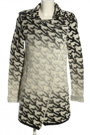 Best Connections Coarse Knitted Jacket white-black allover print casual look