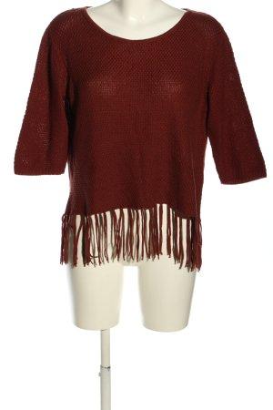 Best Connections Sweter z grubej dzianiny czerwony W stylu casual