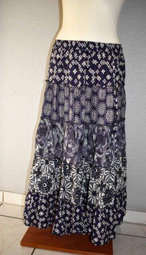 BC Best Connetions Spódnica z koła ciemnoniebieski-biały Bawełna