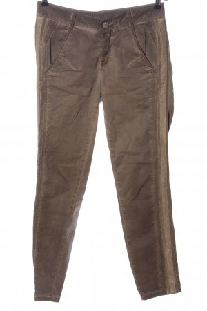 Best Connections Pantalone a vita bassa marrone stile casual