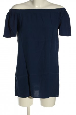 Best Connections Kurzarm-Bluse blau Casual-Look