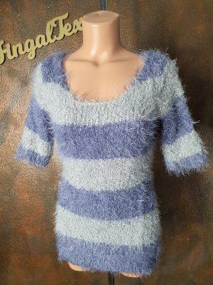 b.c. best connections Sweater met korte mouwen lichtgrijs-paars