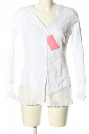 Best Connections Langarm-Bluse weiß Casual-Look