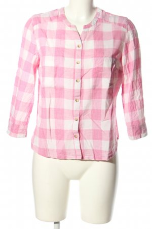 Best Connections Langarm-Bluse pink-weiß Allover-Druck Casual-Look