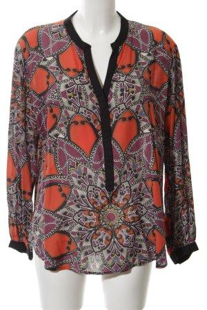 Best Connections Langarm-Bluse abstraktes Muster klassischer Stil