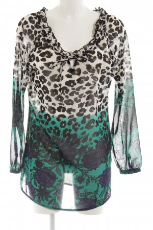 Best Connections Langarm-Bluse Blumenmuster Casual-Look