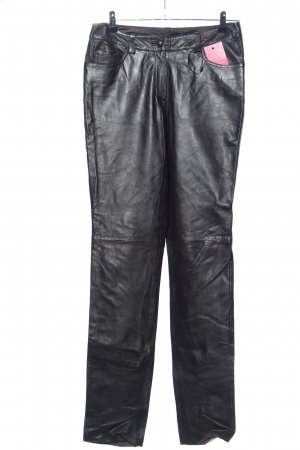 Best Connections Lederhose schwarz Casual-Look