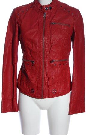 Best Connections Skórzana kurtka czerwony W stylu casual
