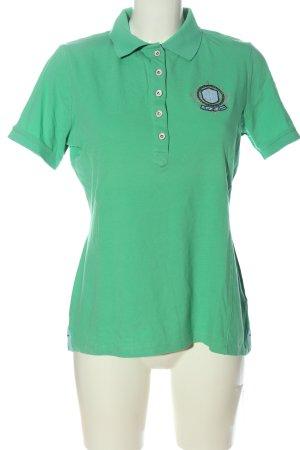 Best Connections Polo-Shirt grün-schwarz Schriftzug gestickt Casual-Look